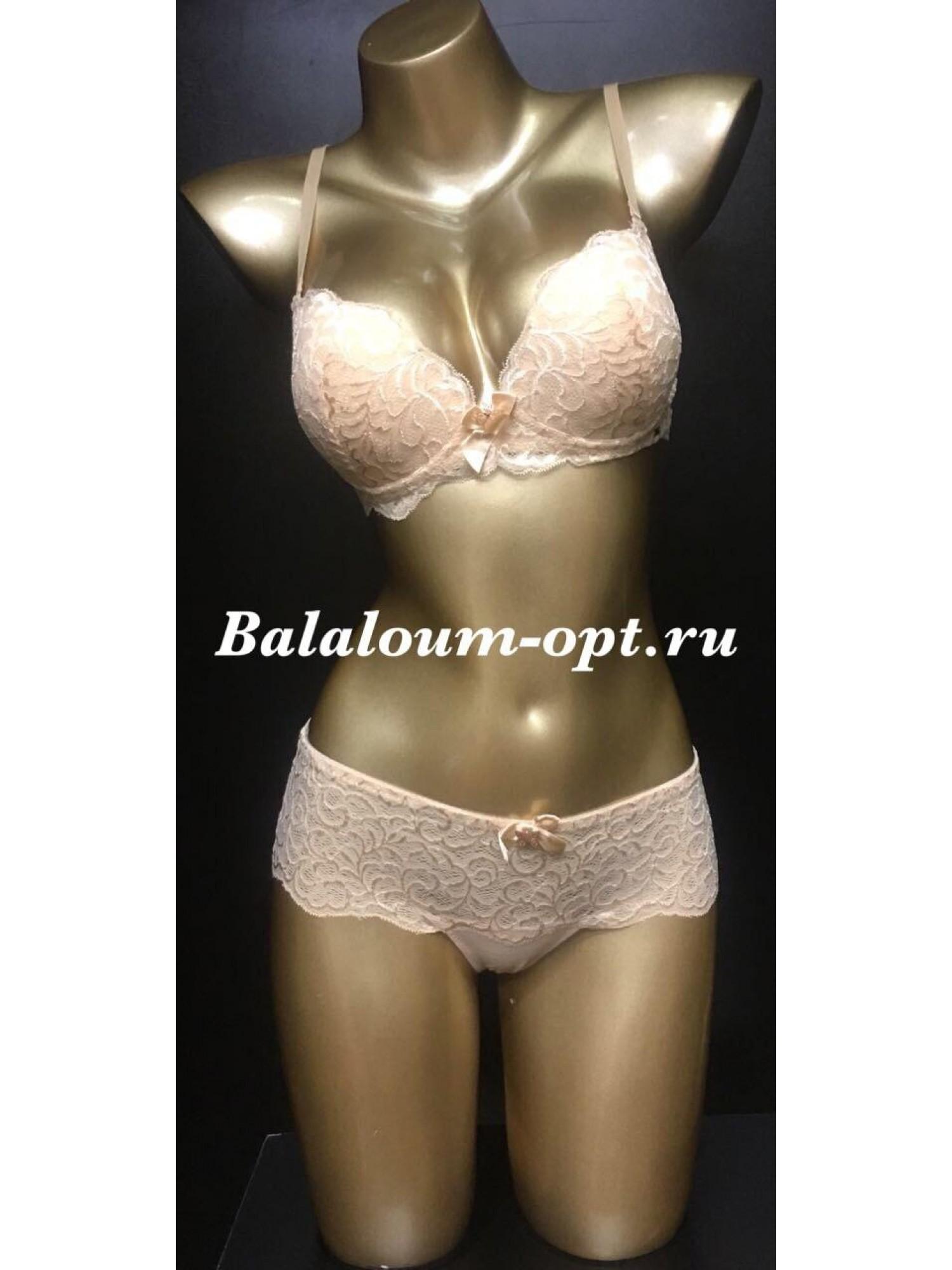 Комплект женского нижнего белья Balaloum А9327 Бежевый