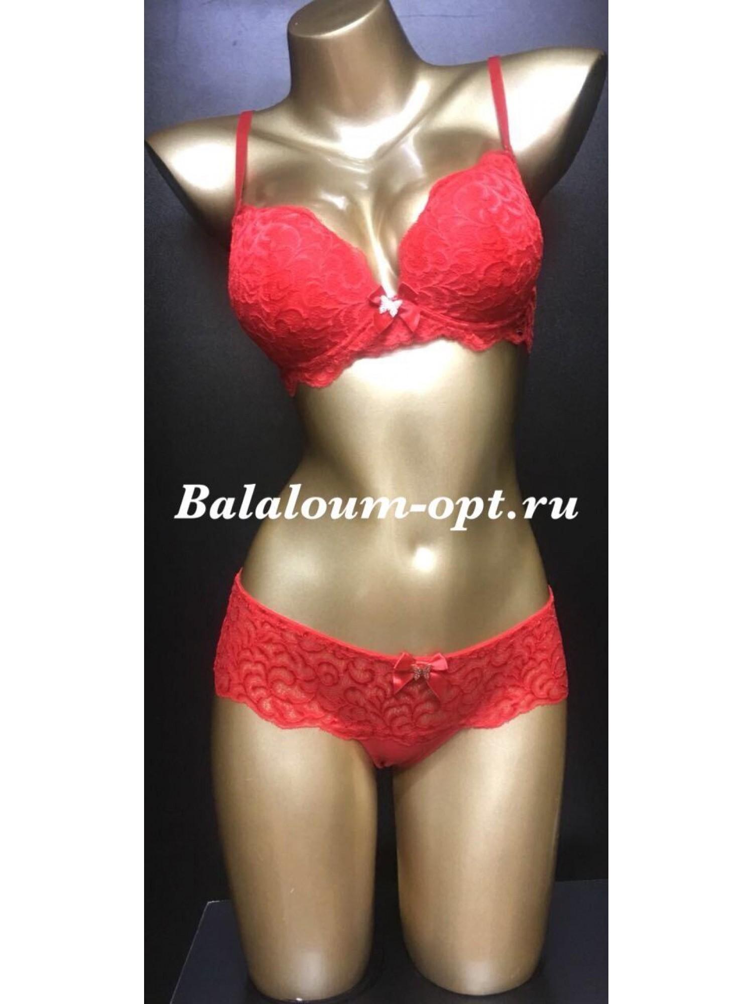 Комплект женского нижнего белья Balaloum А9327 Красный