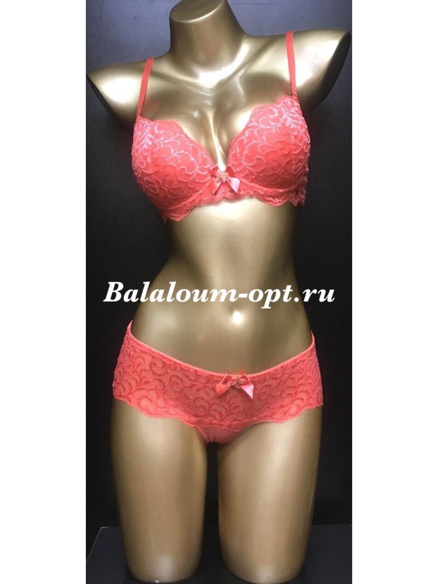 Комплект женского нижнего белья Balaloum А9327 Коралловый