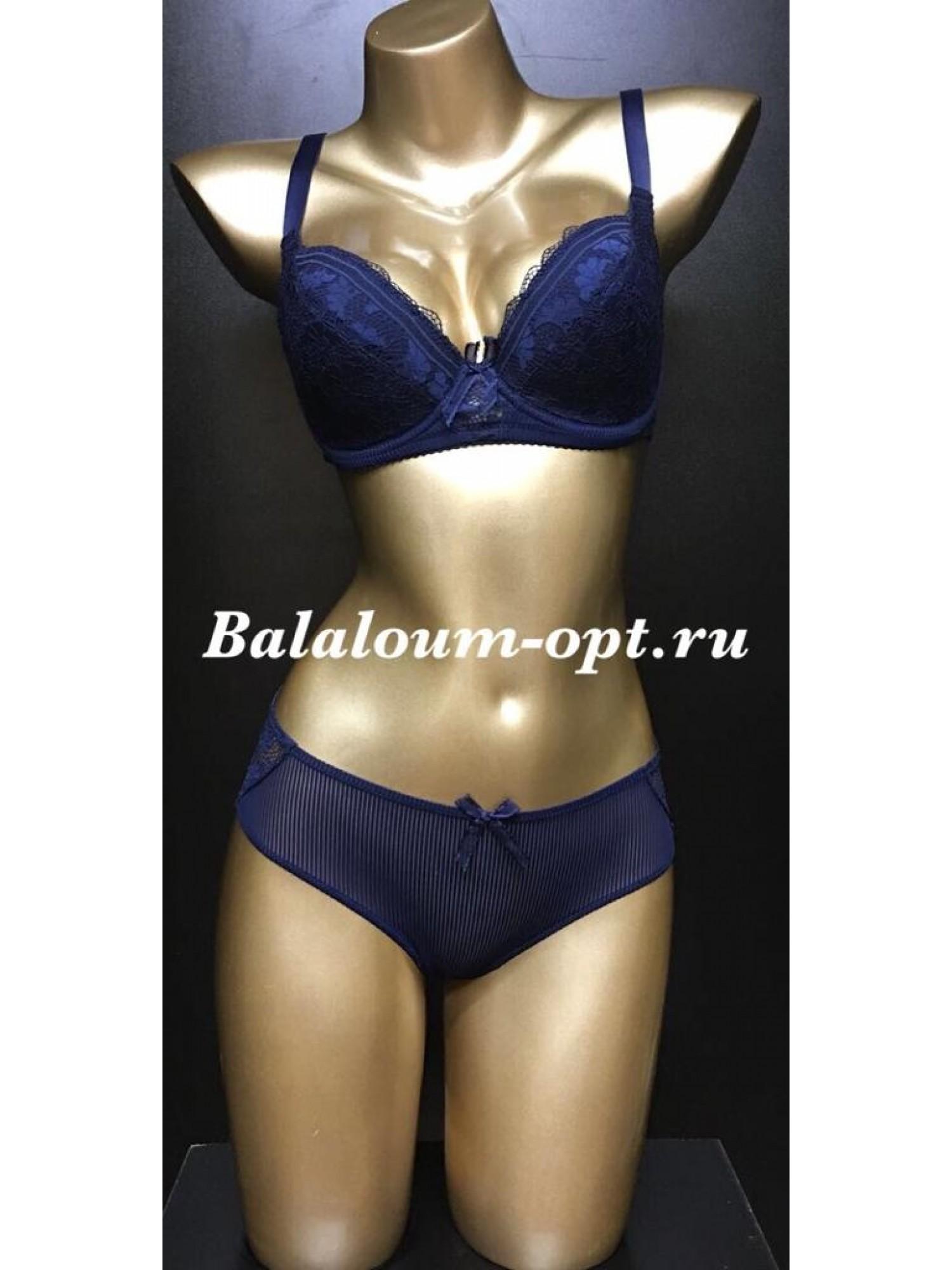 Комплект женского нижнего белья Balaloum А9371 Синий