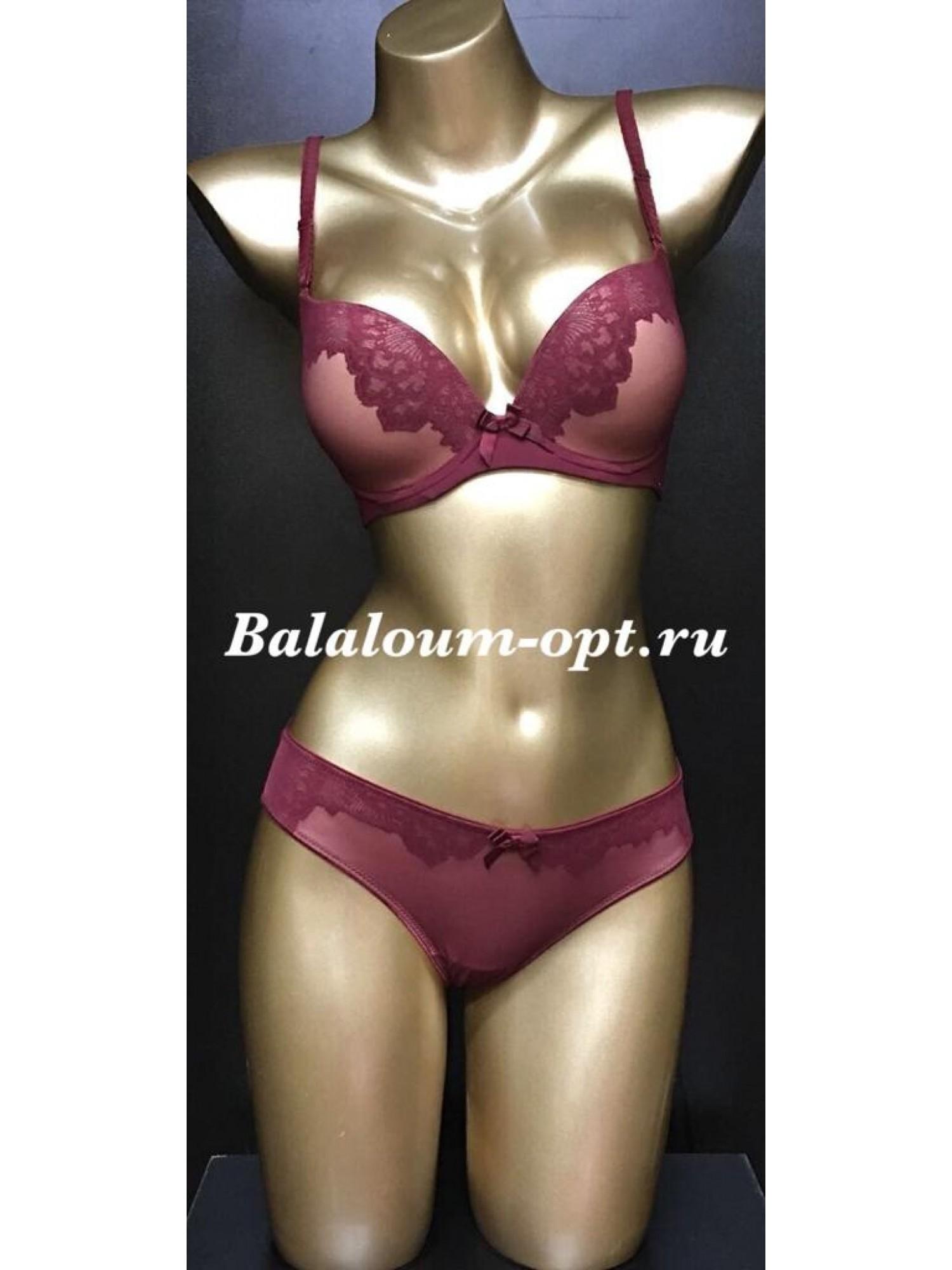 Комплект женского нижнего белья Balaloum А9381 Бордовый