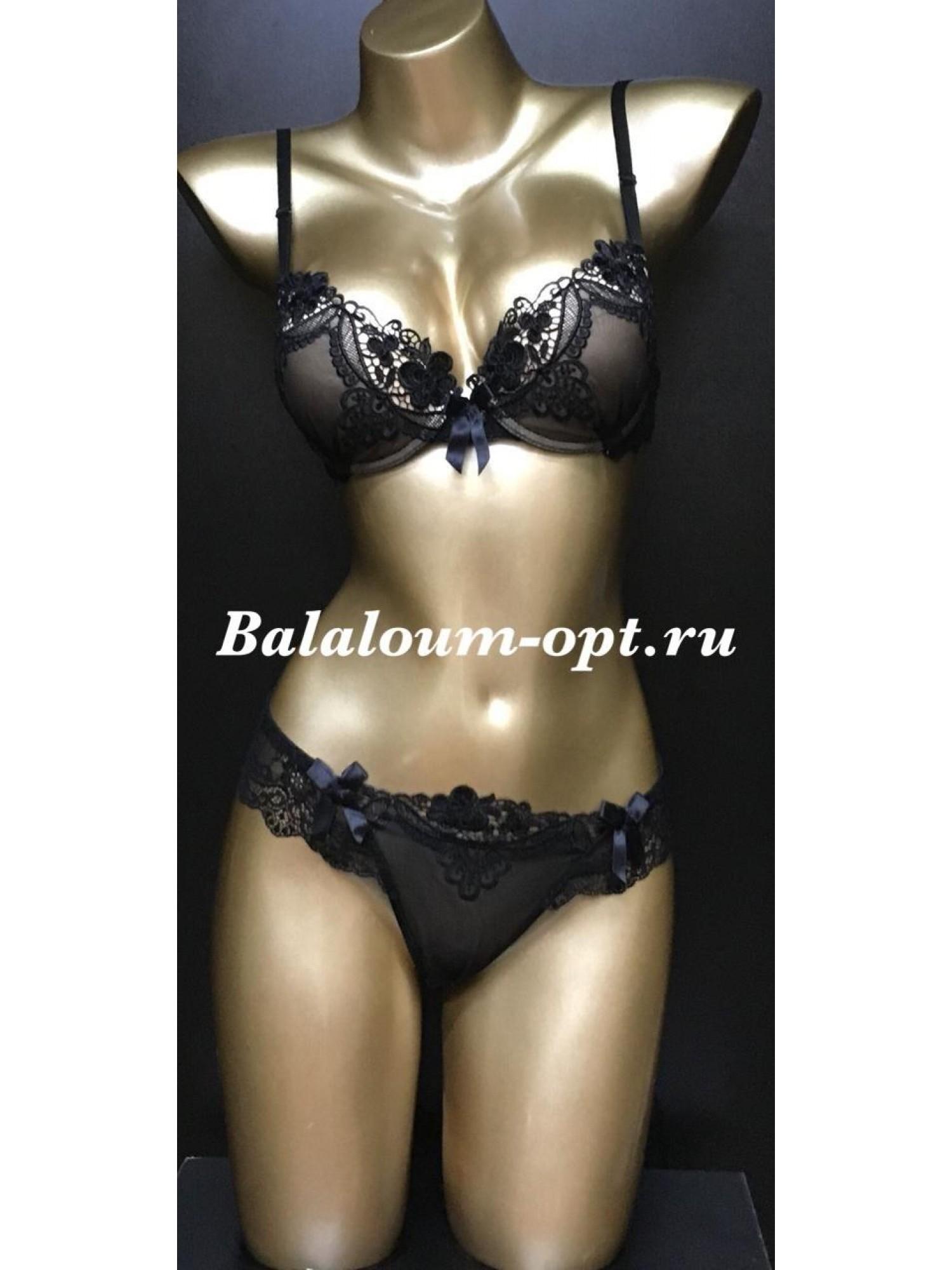 Комплект нижнего женского белья Balaloum А9280 Чёрный