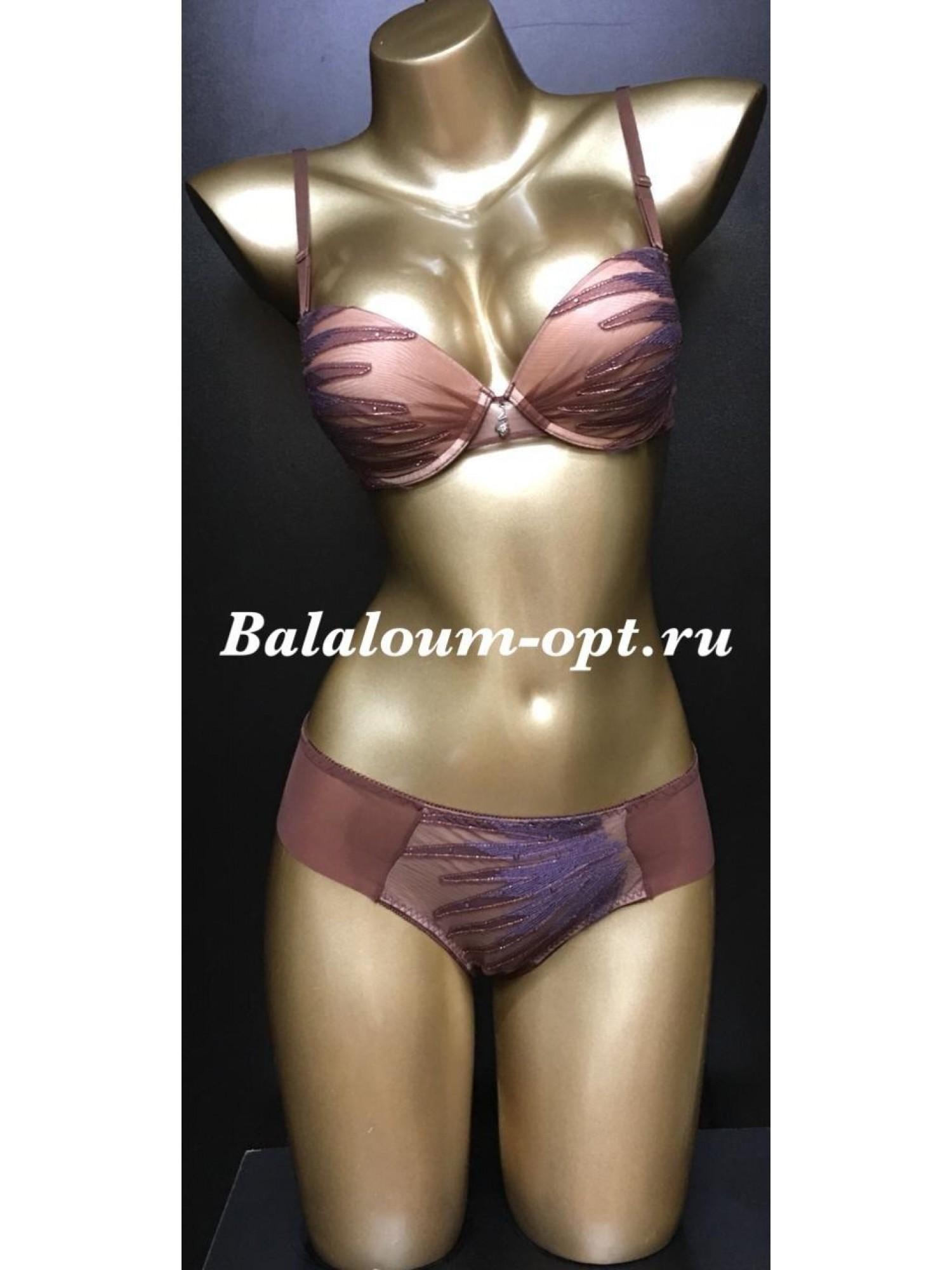 Комплект женского нижнего белья Balaloum А9338 Кофейный