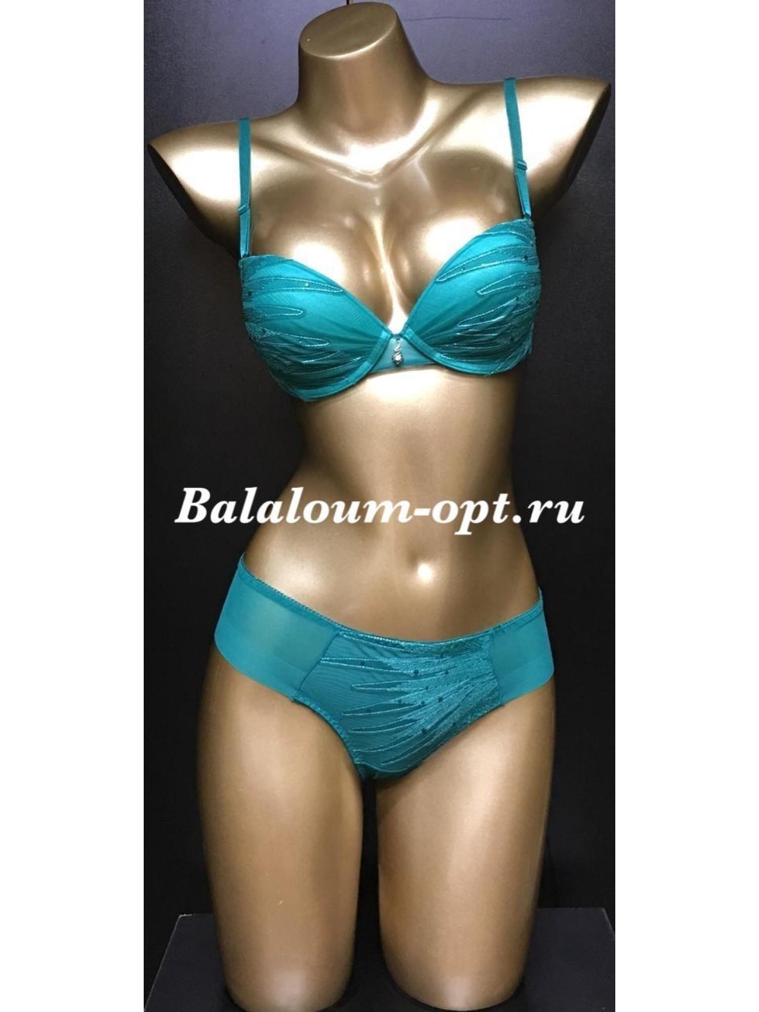 Комплект женского нижнего белья Balaloum А9338 Зелёный