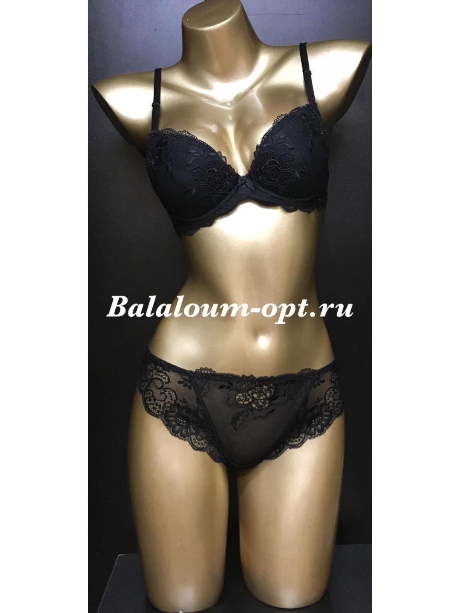 Комплект женского нижнего белья Balaloum А9346 Чёрный
