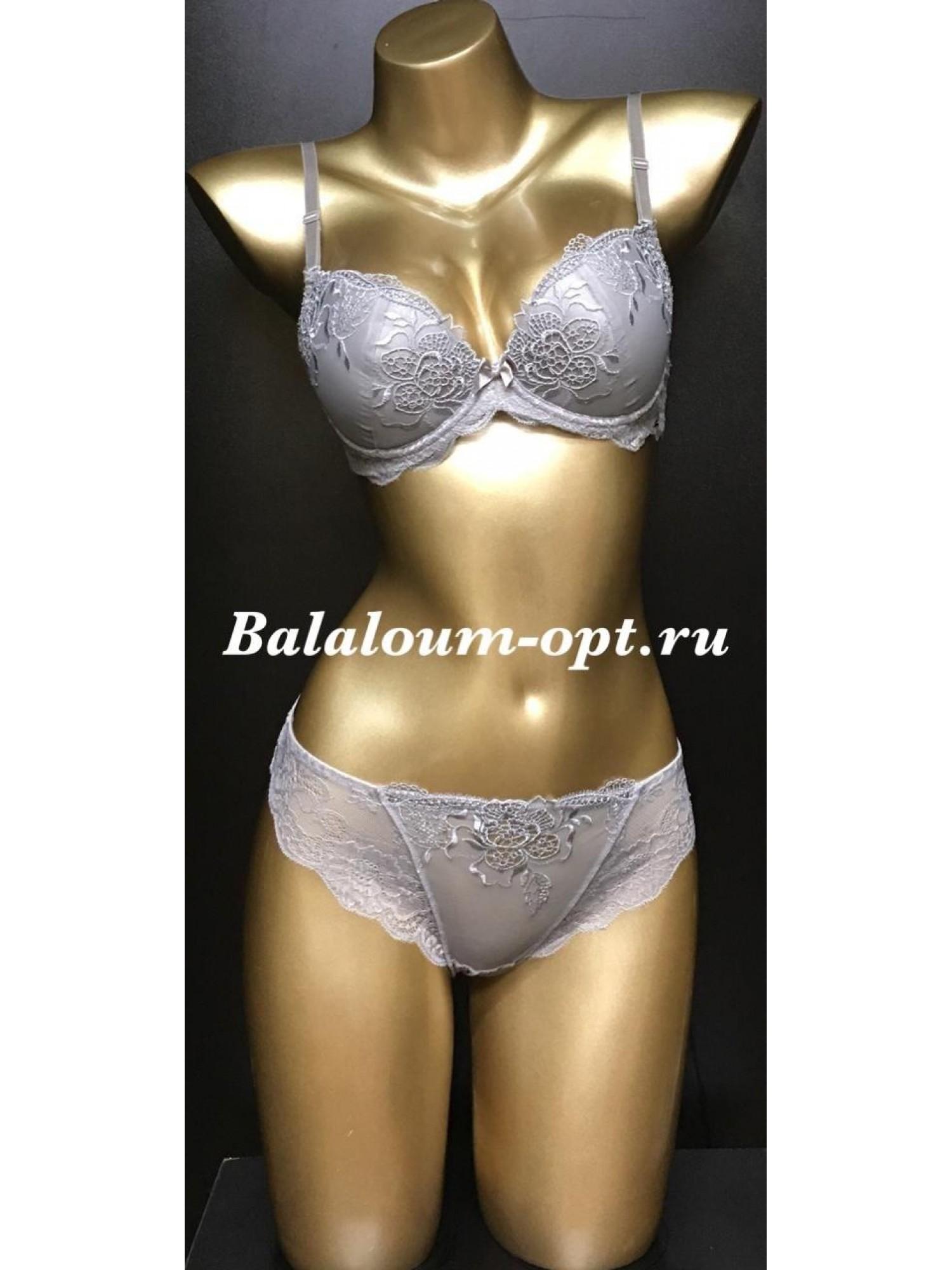 Комплект женского нижнего белья Balaloum А9346 Серый