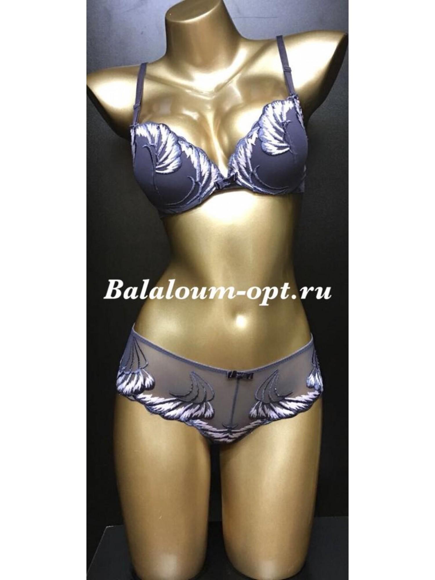 Комплект женского нижнего белья Balaloum А9350 Серо-розовый
