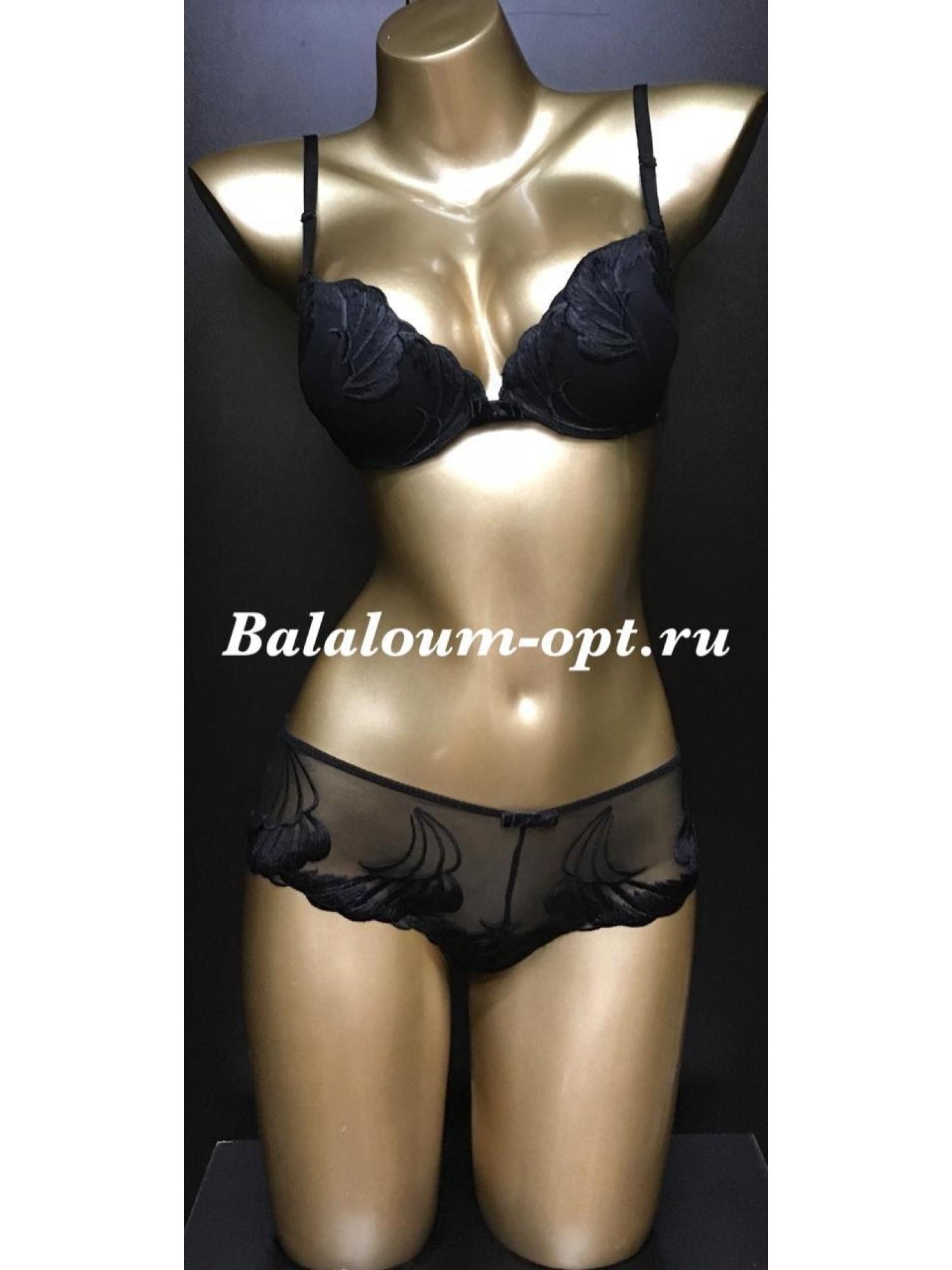 Комплект женского нижнего белья Balaloum А9350 Чёрный