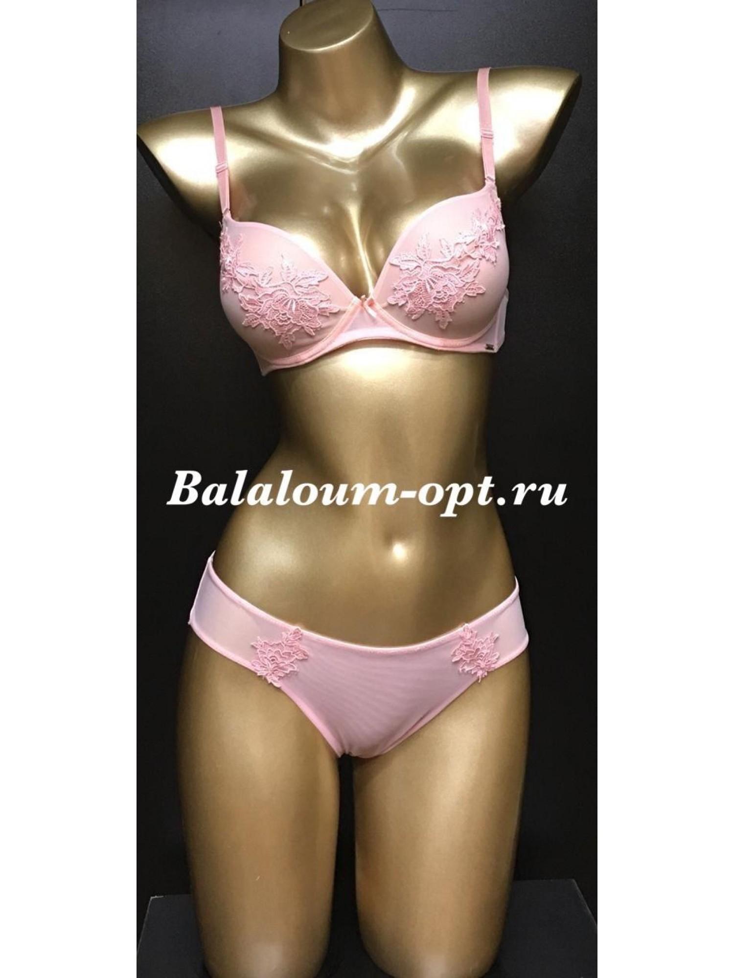 Комплект женского нижнего белья Balaloum А9351 Розовый