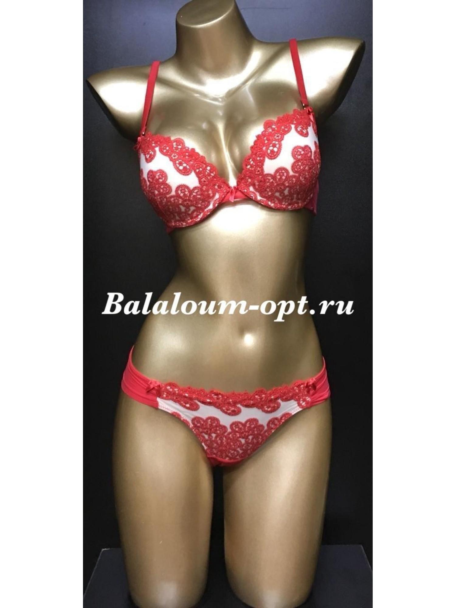 Комплект женского нижнего белья Balaloum А9352 Красный