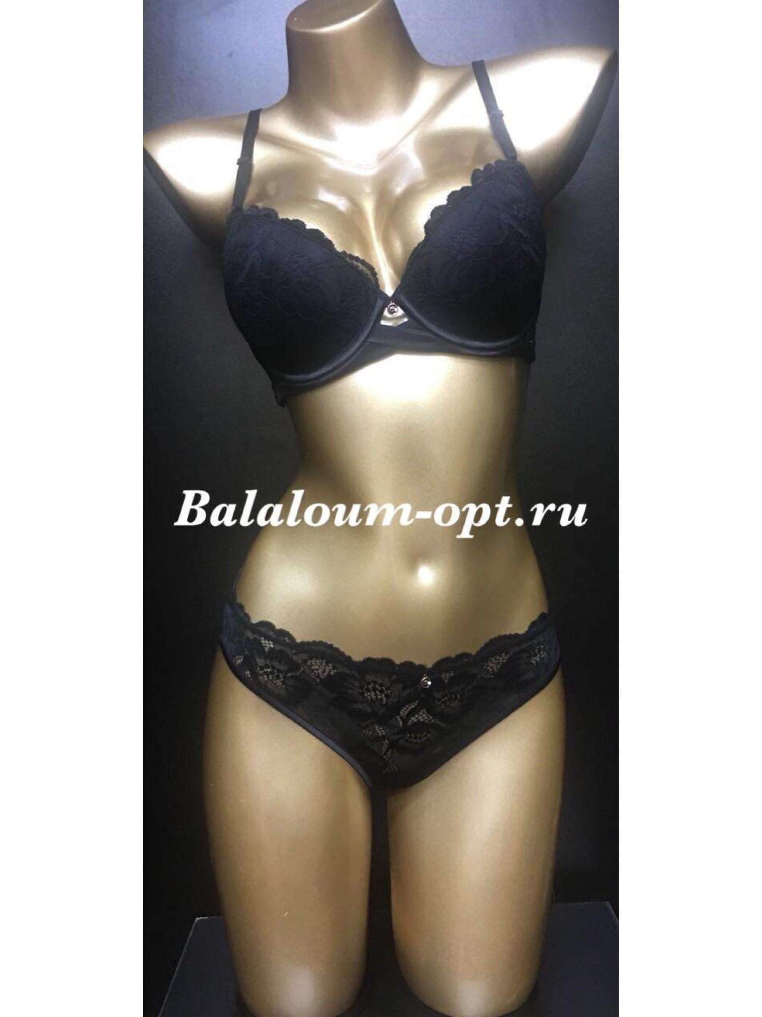 Комплект женского нижнего белья Balaloum А9370 Чёрный