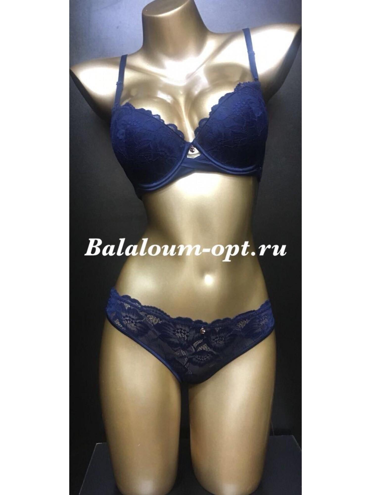 Комплект женского нижнего белья Balaloum А9370 Синий