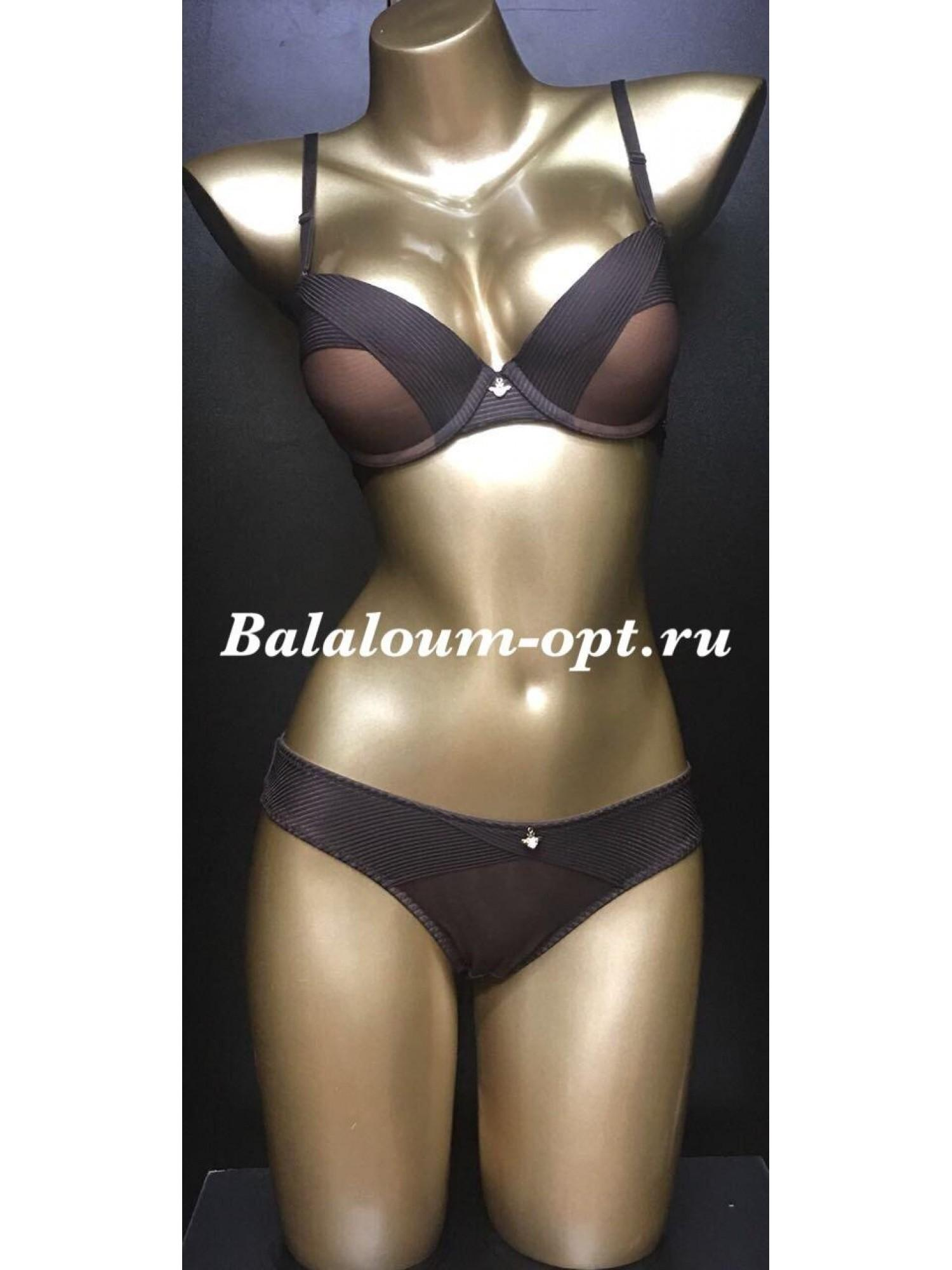 Комплект женского нижнего белья Balaloum А9373 Коричневый