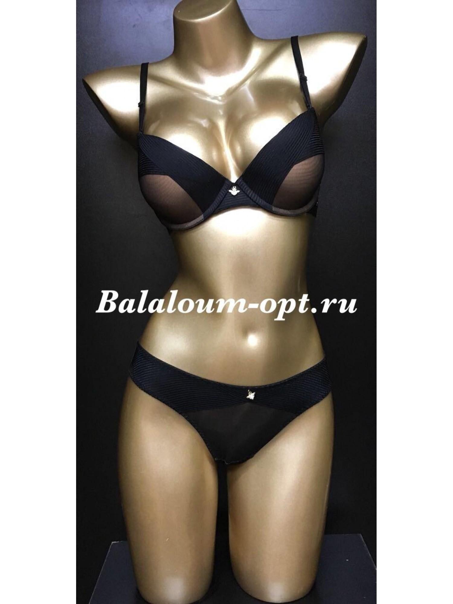 Комплект женского нижнего белья Balaloum А9373 Чёрный