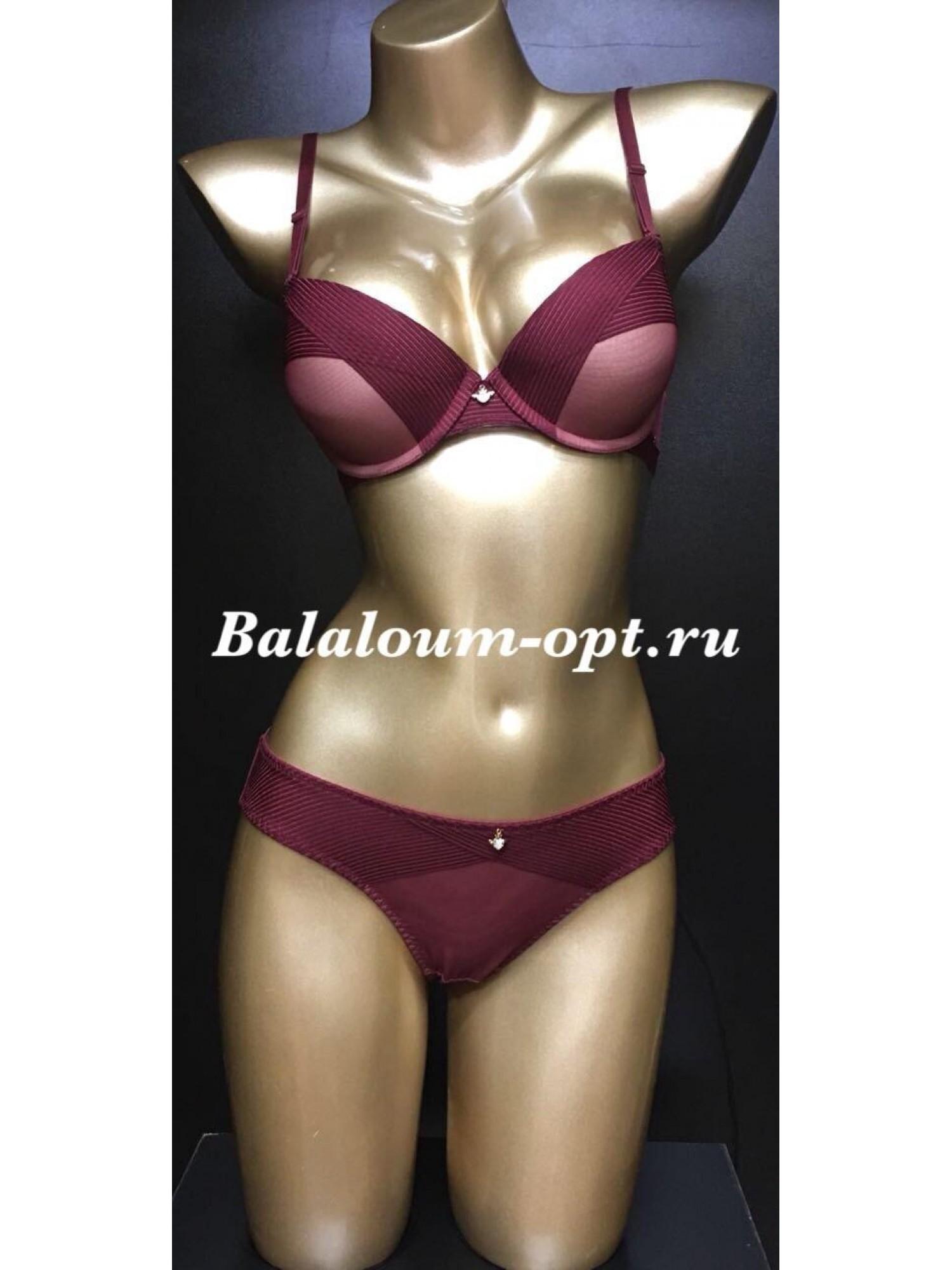 Комплект женского нижнего белья Balaloum А9373 Бордовый