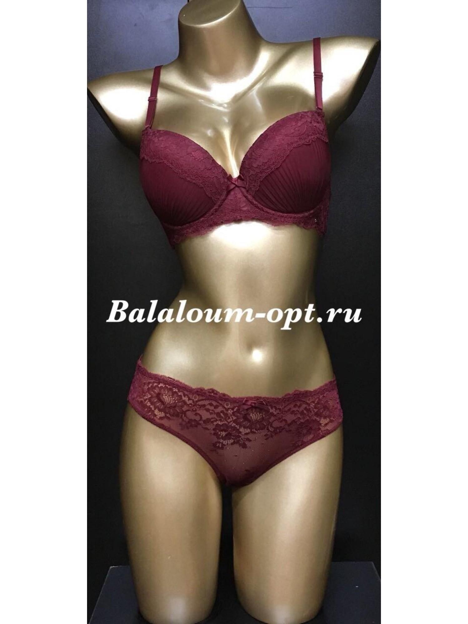 Комплект женского нижнего белья Balaloum A9382 Бордовый
