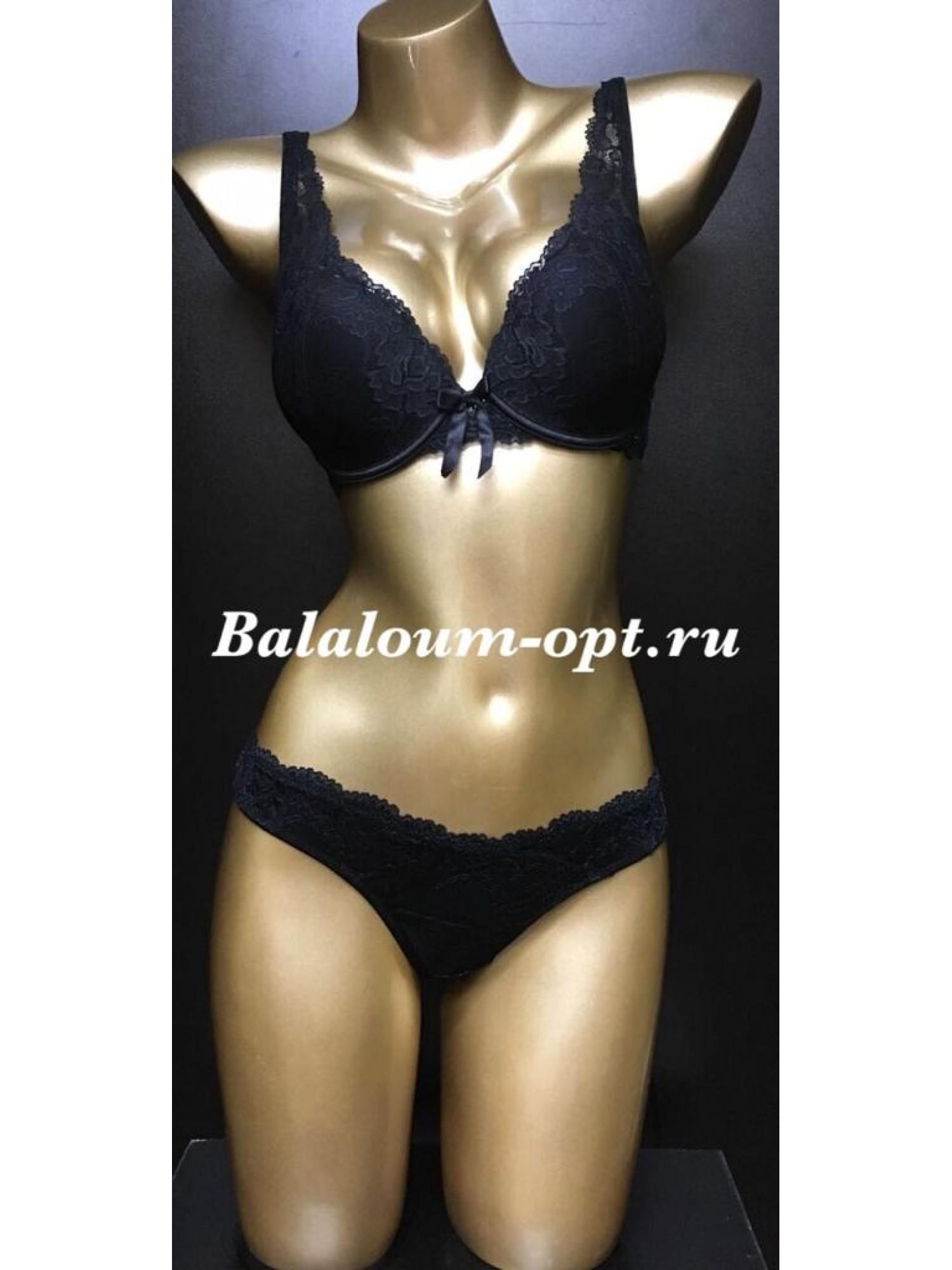 Комплект женского нижнего белья Balaloum А9362 Чёрный