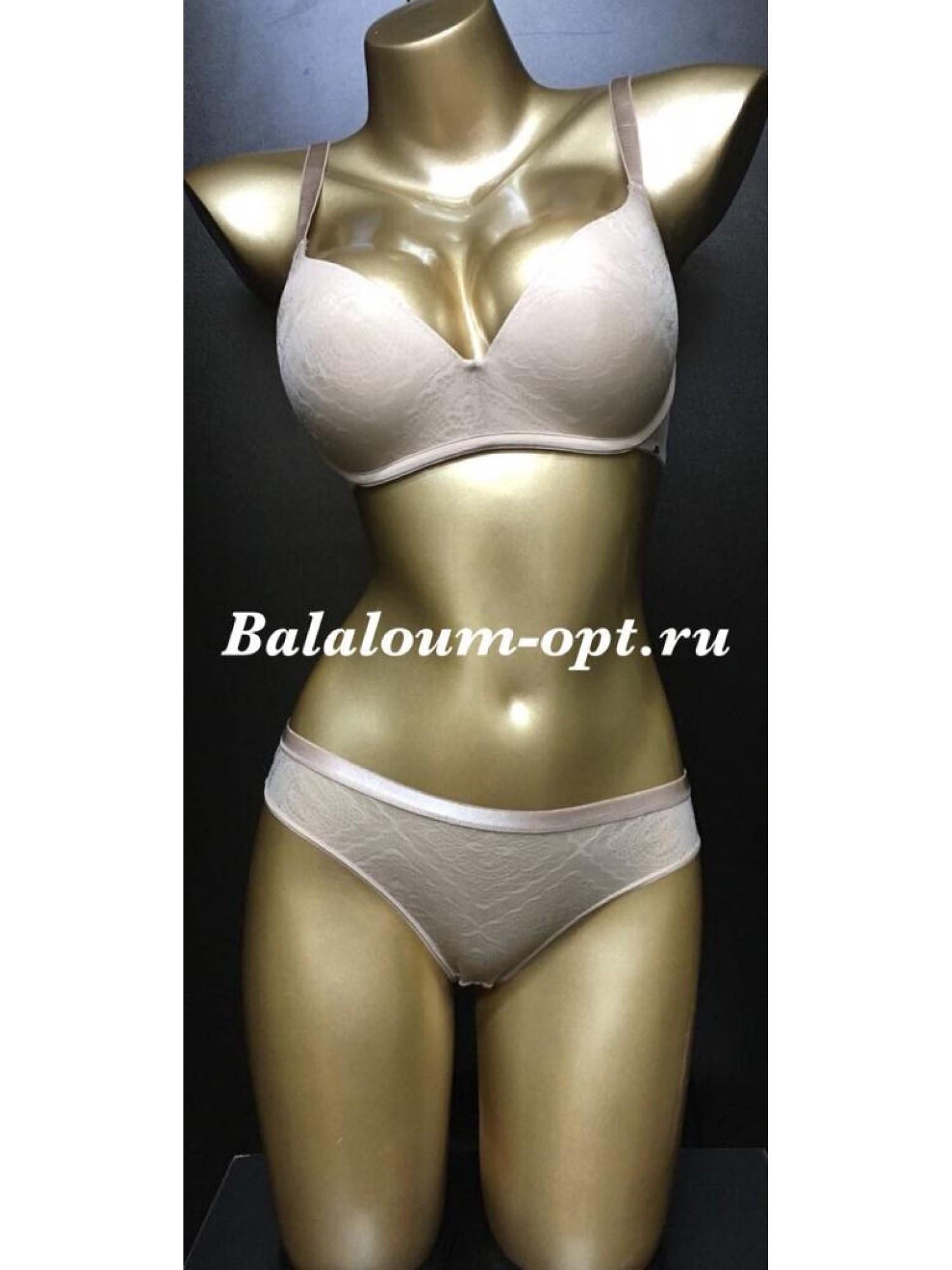 Комплект женского нижнего белья Balaloum А9378 Бежевый