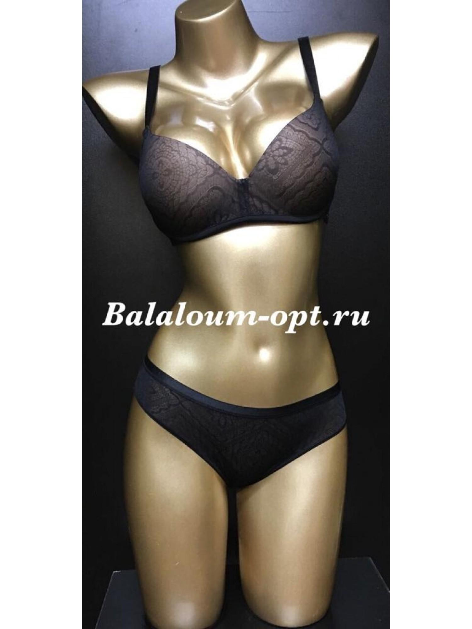 Комплект женского нижнего белья Balaloum А9378 Чёрный