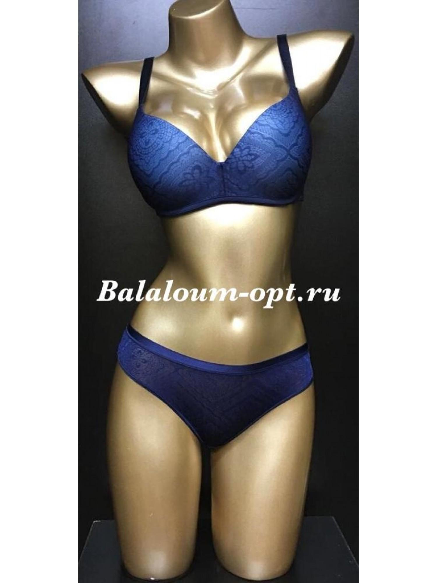 Комплект женского нижнего белья Balaloum А9378 Синий